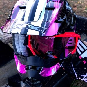 AFX helmet, goggles, & brand new quick release.